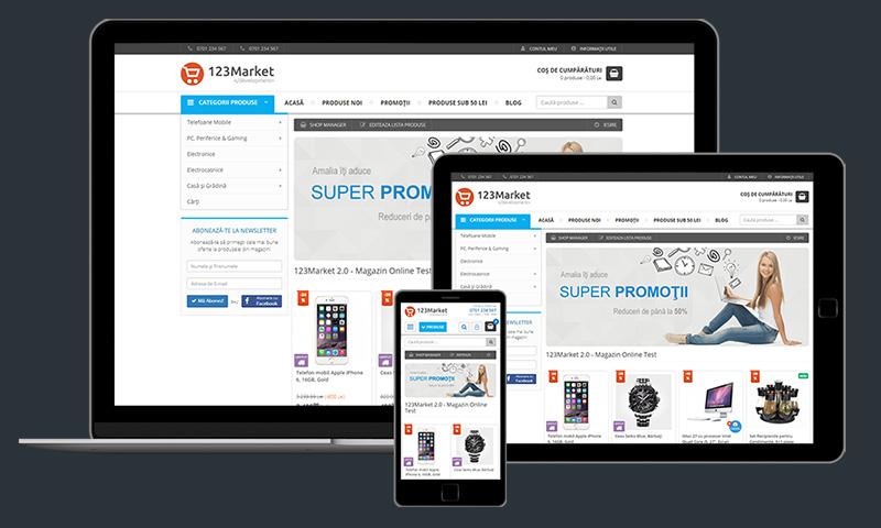 Magazin Online cu Design Responsive